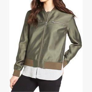 Trouve layered look bomber jacket sz XS NWT